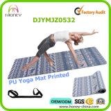 Напечатанная циновка йоги PU выскальзования свободно, полный цвет цифров, изготовленный на заказ ярлык