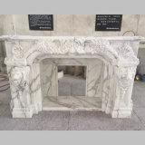 중국 백색 대리석 자연적인 돌 벽난로 주위