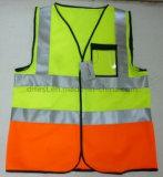 Veste popular da segurança 2016 com a fita reflexiva de 3cm