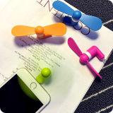 Universalität 2 in 1 Mini Portable Micro USB Fan für Android und iPhone