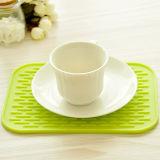 Silikon-quadratischer Tisch-rutschfester Abendessen-Kissen-Quadrat-Potenziometer-Halter
