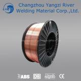 """Alambre de cobre 0.035 de Aws A5.18 Er70s-6 """" (0.9m m) con el carrete 15kg"""