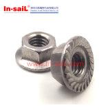 Contraporcas Hex inteiramente metálicas de prevalência da flange do torque DIN1667