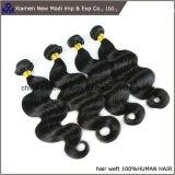 Tessuto dei capelli umani di estensione 100% dei capelli umani dell'onda del corpo