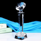 Trophée neuf populaire de cristal de noir de cadeau de souvenir de récompense de modèle