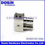 Vormontierter 75 Doppelverbinder der Ohm-Zink-Legierungs-3G HD SDI des weibchen-BNC