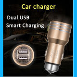 Chargeur duel coloré en gros bon marché de véhicule d'USB pour chargeur personnalisé promotionnel 5V 2.4A de véhicule de l'universel USB d'iPhone le mini
