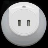 Lamp van het Bed van de Nacht van de Stop USB van de draagbare Lichte Dubbele LEIDENE USB van de Lader USB Muur van de Nacht de Lichte Lichte