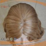 Peluca superior de seda de las mujeres del pelo humano largo ondulado flojo de Remy