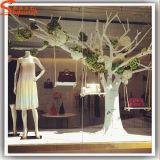 Filiali di albero asciutte bianche artificiali della vetroresina della decorazione del negozio