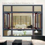 Guichet en verre de tissu pour rideaux en aluminium avec le réseau (FT-W85)