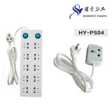 Universal Power Extension Strip / Power Socket avec adaptateur 3 broches (HY-PS04)