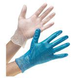 Gant Viny de latex de gant de nitriles de gant de poudre de gants de vinyle de gants libres bleus de vinyle