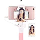 Handheld Extendable ручка Selfie связанная проволокой ручкой Selfie с зеркалом для мобильного телефона
