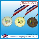판매를 위한 스포츠 포상 메달 금 은 청동 금속 메달