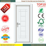 10years Warranty Commercial System Glass Interior Wooden PVC Door