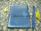 Hot Sale A4 Compendium PU Leather Conference File Folder com cartão de bolso