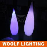 O diodo emissor de luz colore a lâmpada de tabela plástica em mudança da gota da água da decoração interna da família