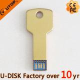 Nueva impulsión de destello de encargo 8 de la pluma del gancho USB3.0 del metal de la insignia 16 32 GB