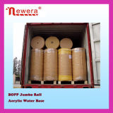 Solo Side BOPP Film Jumbo Roll Adhesive Packing Tape para Wrapping