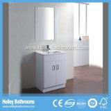 À haute brillance Vinyle-Envelopper l'élément moderne de vanité de salle de bains de première pente (BC129V)