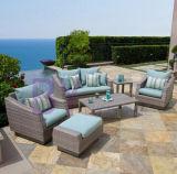 mobília ao ar livre do Rattan branco de vime luxuoso do sofá do jardim by-470