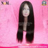 Парик человеческих волос Remy Yaki новой девственницы конструкции 2017 бразильский Silk низкопробный верхний