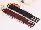 De in het groot Professionele Armband van het Leer van Mens van de Douane van de Hoogste Kwaliteit met Klinknagel (HJ6068)