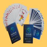 Tarjetas que juegan plásticas personalizadas que hacen publicidad de tarjetas que juegan