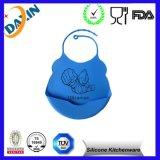 FDAの食品等級さまざまな動物デザインシリコーンの赤ん坊の胸当て