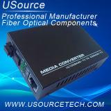 Ethernet rápido el 10/100/1000m Optical Fiber Media Converter