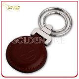 Promoción de calidad superior de forma redonda caliente estampado anillo de cuero