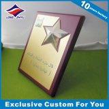 2016 Forma de madera rectangular de fundición Medalla Placa conmemorativa
