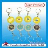 Chinesischer Karikatur Keychain Installationssatz-Metalldecklack personifizierte Schlüsselkette mit kundenspezifischem Firmenzeichen