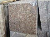 Rote Farben-Polierpfirsich-rote Granit-Stein-Fliese-Platte-natürlicher Steinfliese-Platte-Bordstein-Kopfstein-Stein-Würfel