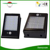動きセンサー24 LEDの壁に取り付けられた軽い防水太陽動力を与えられた機密保護夜ライトと屋外太陽ライト