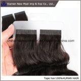 Cabelo chinês da fita do preto do cabelo humano do Virgin