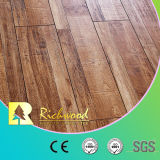 8.3mm Vinyl Plank Hand Scraped Hickory Parquet Walnut Laminated Wood Flooring