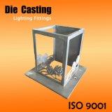 Kundenspezifischer Aluminiumfertigkeit-Beleuchtung-Lampenschirm-Rahmen mit Blume