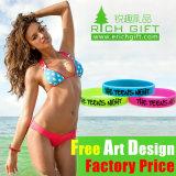 La fabbrica direttamente fissa il prezzo di & Wristband del silicone personalizzato vendite calde
