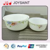 Tazón de fuente del servicio de mesa del ópalo de la cristalería/taza determinados de la placa/de la leche
