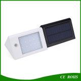 20 lámpara montada en la pared LED de la luz solar impermeable del jardín del sensor de movimiento del LED PIR