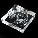 オフィスの装飾のための明確な八角形のクリスタルグラスのシガーの灰皿