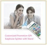 Подарок промотирования для стойки мобильного телефона Splitter наушника (ID381)