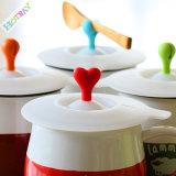Nuevo diseño del 100% de la tapa de taza de comida silicón de la categoría