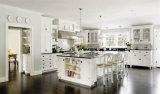 Gabinete de cozinha personalizado da madeira contínua da parte alta