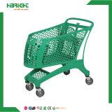 Carros de compras plásticos de tienda de comestibles del buen precio para la venta