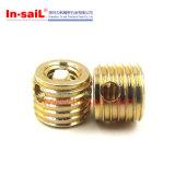 Écrou auto-fileteux en laiton d'insertion de fil de L3080 M10 pour le métal
