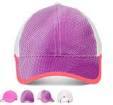 Розовые шлем и крышка бейсбола спорта гольфа девушок края уравновешивания