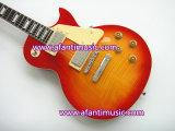 Quente! Guitarra elétrica padrão do Lp da música de Afanti com parte superior inflamada do bordo (SDD-348S)